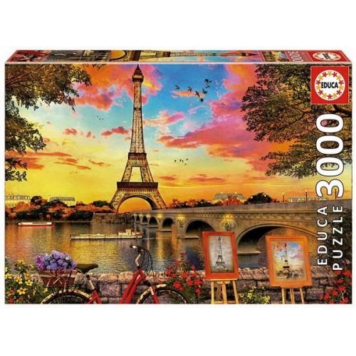 Naplemente Párizsban, 3000 darabos Educa puzzle