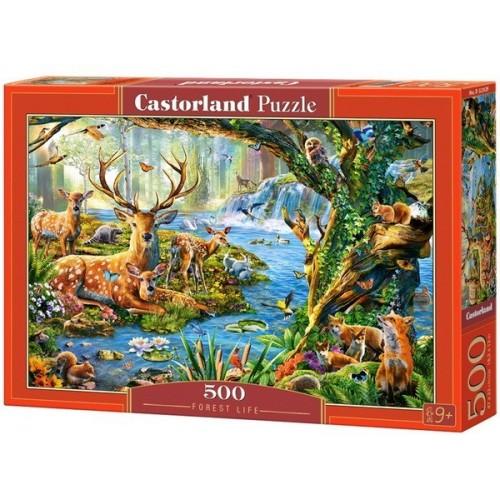 Forest Life, Castorland Puzzle 500 pcs