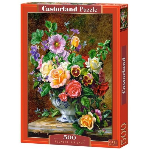 Virágcsendélet, 500 darabos Castorland puzzle