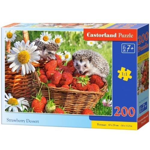 Epret dézsmáló sünik, 200 darabos Castorland puzzle