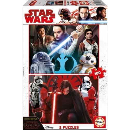 Star Wars - Az utolsó Jedi, Educa puzzle, 2x100db