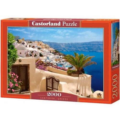 Santorini - Görögország, 2000 darabos Castorland puzzle