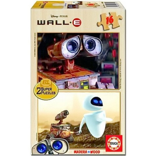 Wall-e Super Puzzle, Educa wooden puzzle 2x16 pc