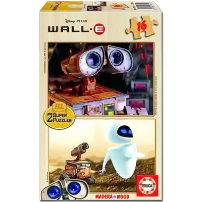 Wall-e Super Puzzle, Educa wooden puzzle 2x16 pc