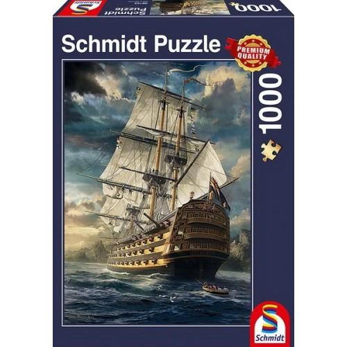Vitorláshajó, 1000 darabos Schmidt puzzle