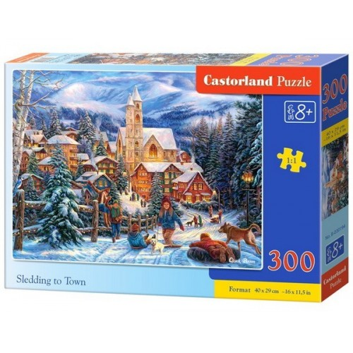 Esti szánkózás, 300 darabos Castorland puzzle