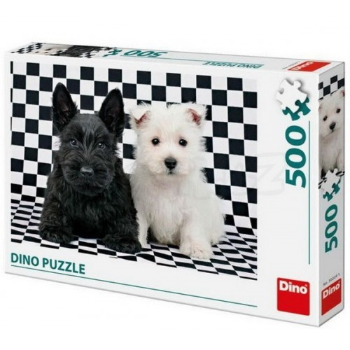 Black and White, Dino Puzzle 500 pcs