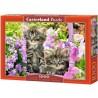 Cicák a nyári virágok közt, Castorland Puzzle 1000 darabos képkirakó