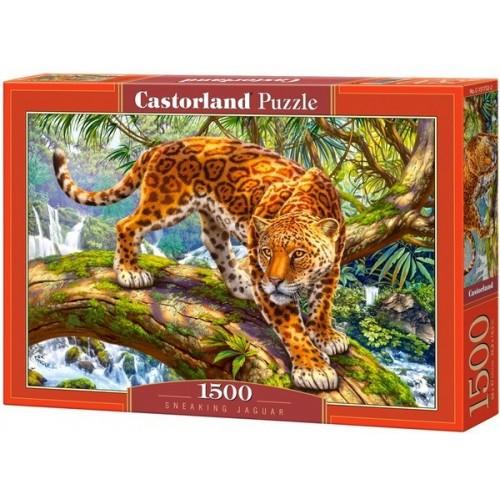 Lopakodó jaguár, 1500 darabos Castorland puzzle