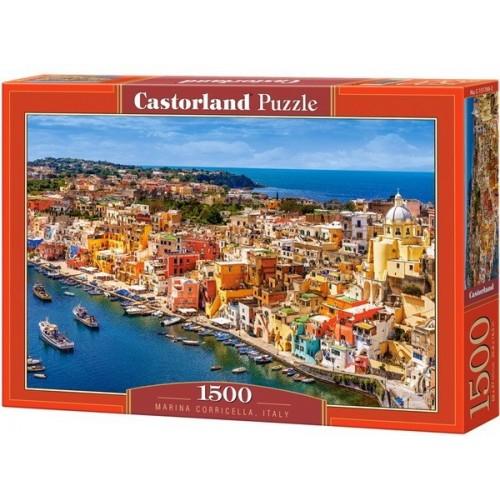 Marina Corricella - Olaszország, 1500 darabos Castorland puzzle