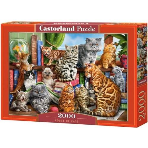 Cirmos cicák, 2000 darabos Castorland puzzle