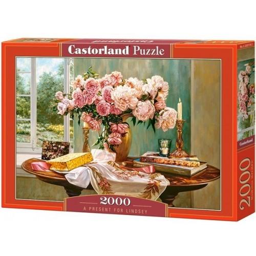 Lindsey ajándéka - Robin Anderson, 2000 darabos Castorland puzzle