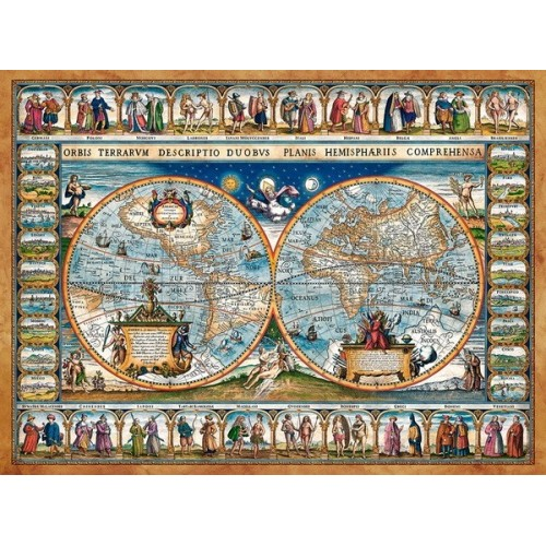 Map of The World - 1639, Castorland puzzle 2000 pc