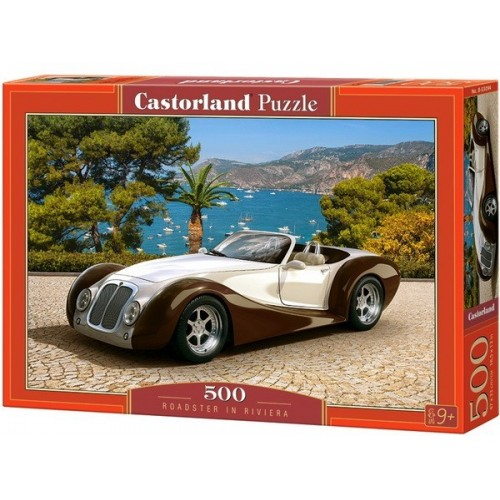 Roadster a riviérán, 500 darabos Castorland puzzle