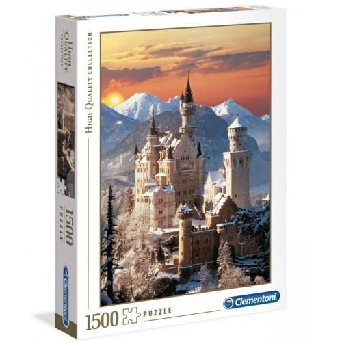 Neuschwanstein télen, 1500 darabos Clementoni puzzle