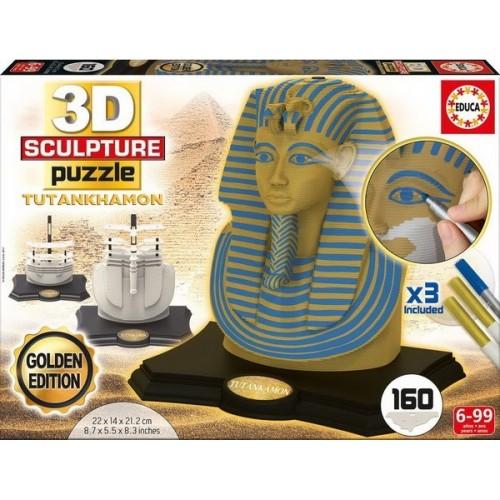 Tutankhamon - Golden Edition, 3D Sculpture puzzle 160 pc