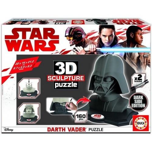 Darth Vader - Dark Side,  Educa 160 darabos 3D puzzle szobor