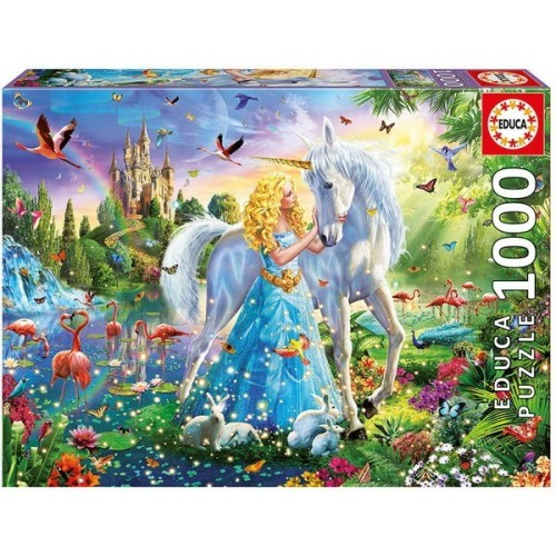 The princess and the unicorn, Educa jigsaw puzzle 1000 pc