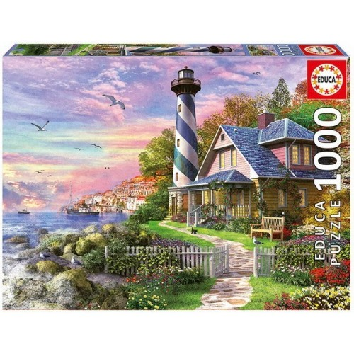 Lighthouse at Rock Bay, Educa jigsaw puzzle 1000 pc