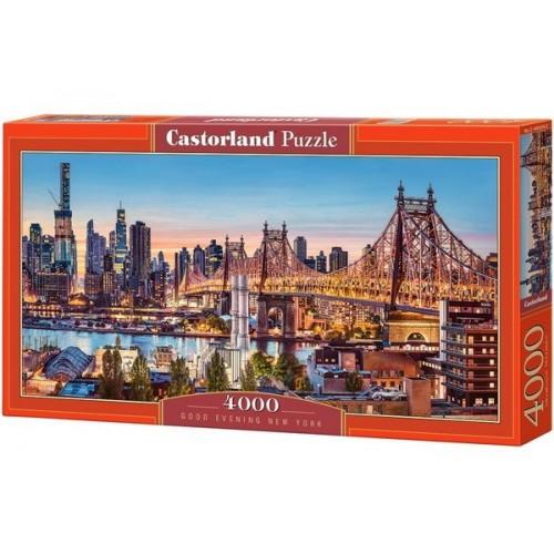 Jó estét New York, 4000 darabos Castorland Puzzle