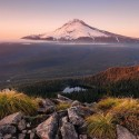 Stratovulkan Mount Hood - Oregon - USA, 1000 darabos Ravensburger puzzle