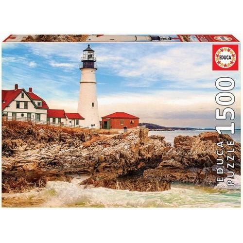 Világítótorony a sziklás parton, Educa 1500 darabos puzzle