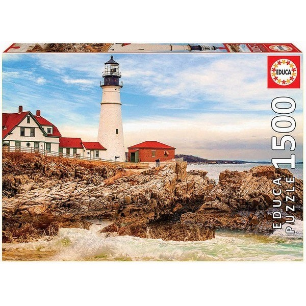Rocky Lighthouse, Educa Puzzle 1500 pieces
