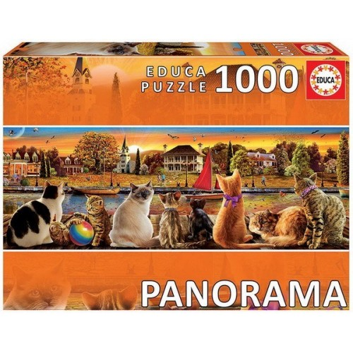 Cats on the Quay, Educa panorama puzzle 1000 pcs