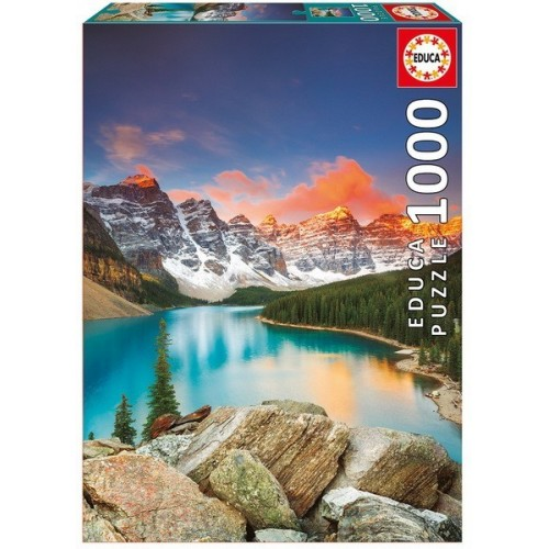 Moraine Lake - Banff National Park - Canada, Educa puzzle 1000 pcs