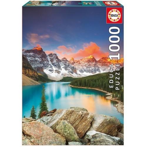 Moraine-tó - Kanada, 1000 darabos Educa puzzle