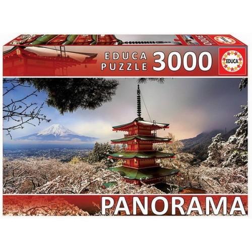 Chureito pagoda - Japán, 3000 darabos Educa puzzle