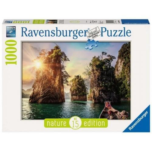 Cheow Larn tó - Thaiföld, 1000 darabos Ravensburger Puzzle