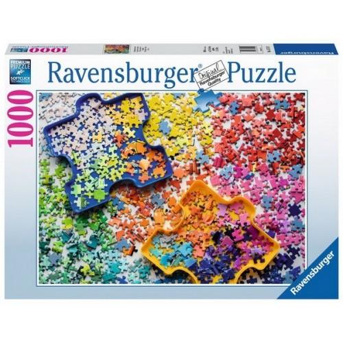 Puzzle rakosgatók asztala, 1000 darabos Ravensburger puzzle