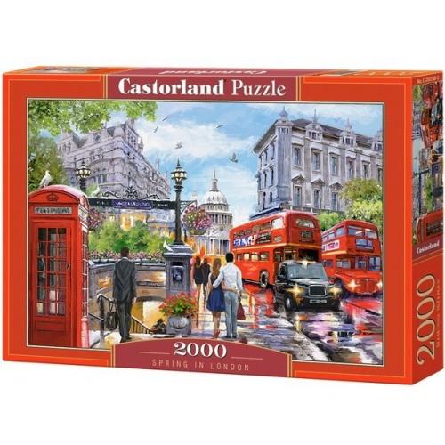 Tavasz Londonban - Richard Macneil, Castorland puzzle 2000 db