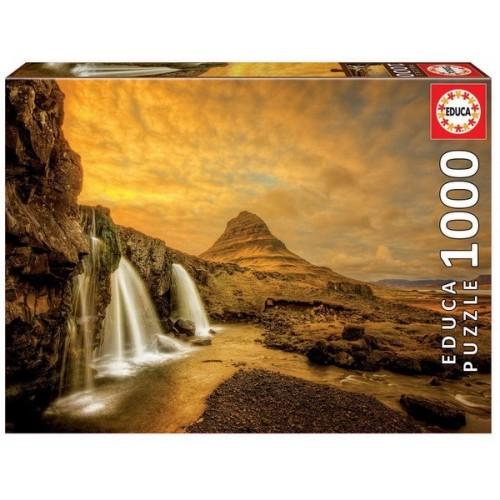Kirkjufell vízesés - Izland, 1000 darabos Educa puzzle