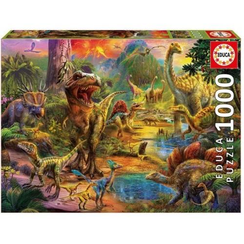 Dinoszauruszok világa, 1000 darabos Educa puzzle