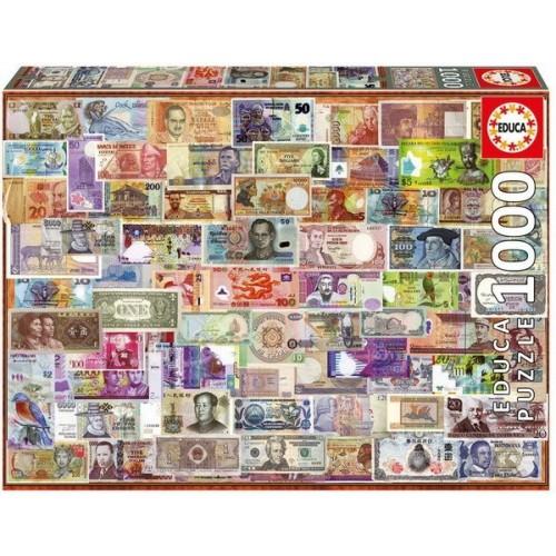 A világ bankjegyei, 1000 darabos Educa puzzle