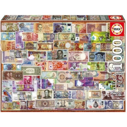World banknotes, Educa jigsaw puzzle 1000 pc