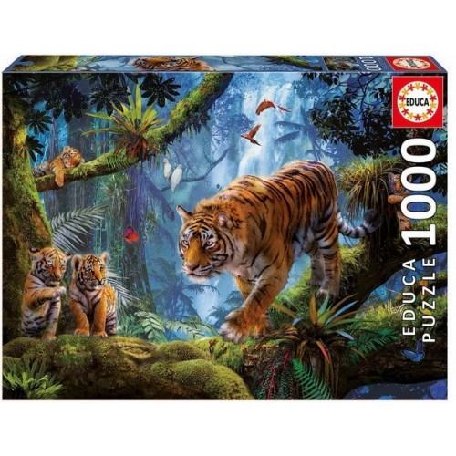 A dzsungel tigrisei, 1000 darabos Educa puzzle
