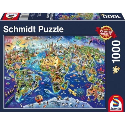 Fedezd fel a világot, 1000 darabos Schmidt puzzle