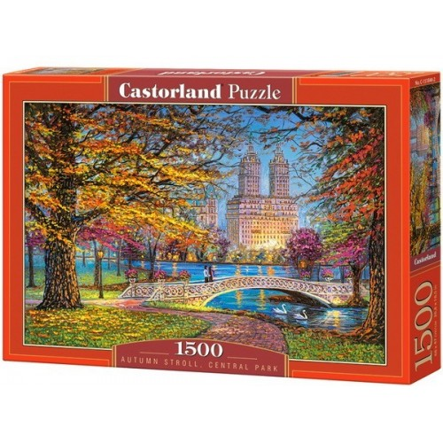 Őszi séta - Central Park, 1500 darabos Castorland puzzle