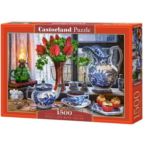 Tulipános csendélet, 1500 darabos Castorland puzzle