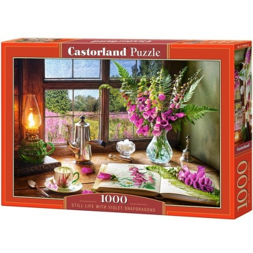 Still Life with Violet Snapdragons, Castorland Puzzle 1000 pc