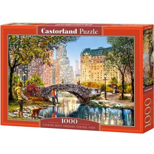 Esti séta a Central Parkban, 1000 darabos Castorland puzzle