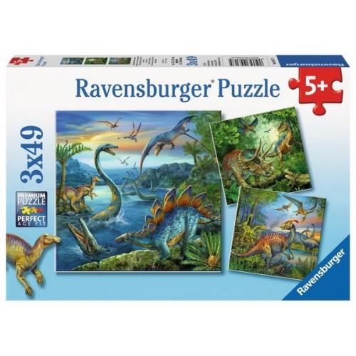 Dinosaur Facination, Ravensburger Puzzle 3X49 pcs puzzle