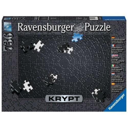 Ravensburger Krypt Puzzle - Fekete, 736 darabos kirakó