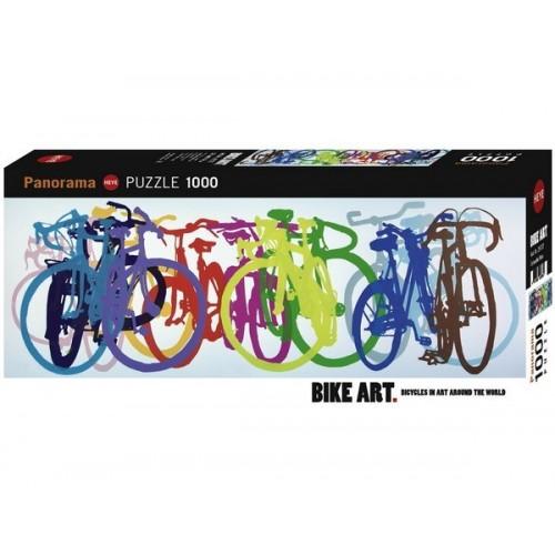 Színes bringasor - Bike Art széria, 1000 darabos Heye puzzle