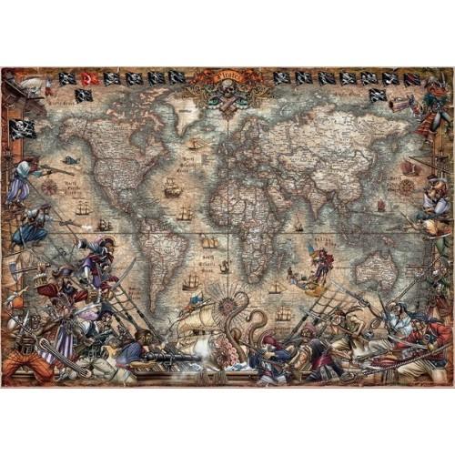 Pirates Map, Educa Jigsaw Puzzle, 2000 pc