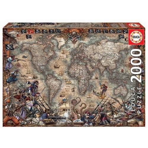 Antik kalóztérkép, 2000 darabos Educa puzzle