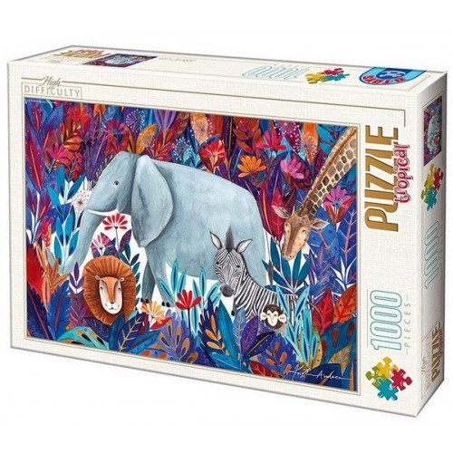 Tropical 4 - Kürti Andrea, 1000 darabos D-Toys puzzle